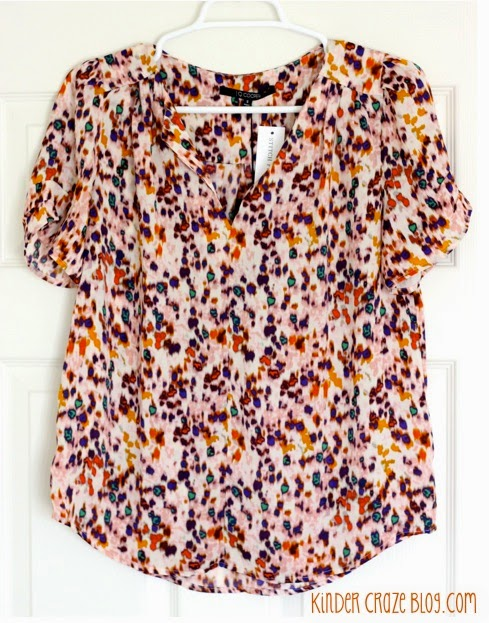 Cathleen Abstract Print Tulip Sleeve Blouse from Stitch Fix