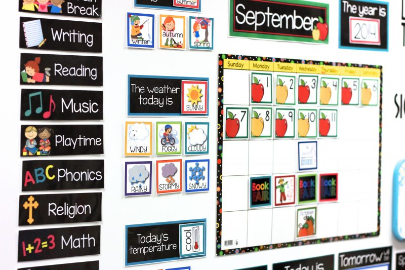 Months of the year kindergarten