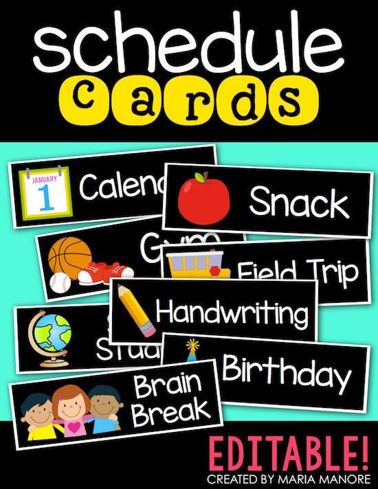 schedule cards black series kindercraze