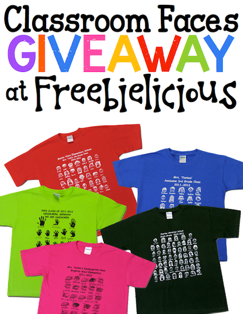 Enter to WIN a Class set of Custom t-shirts!