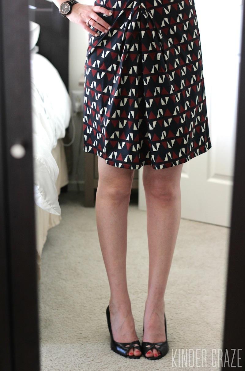 Devin Geo Print Pleat Detail Dress from Stitch Fix