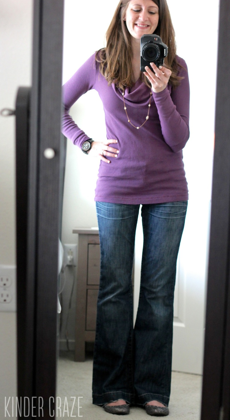 purple Giorgio Cowl Neck Long Sleeve Thermal Top from Stitch Fix