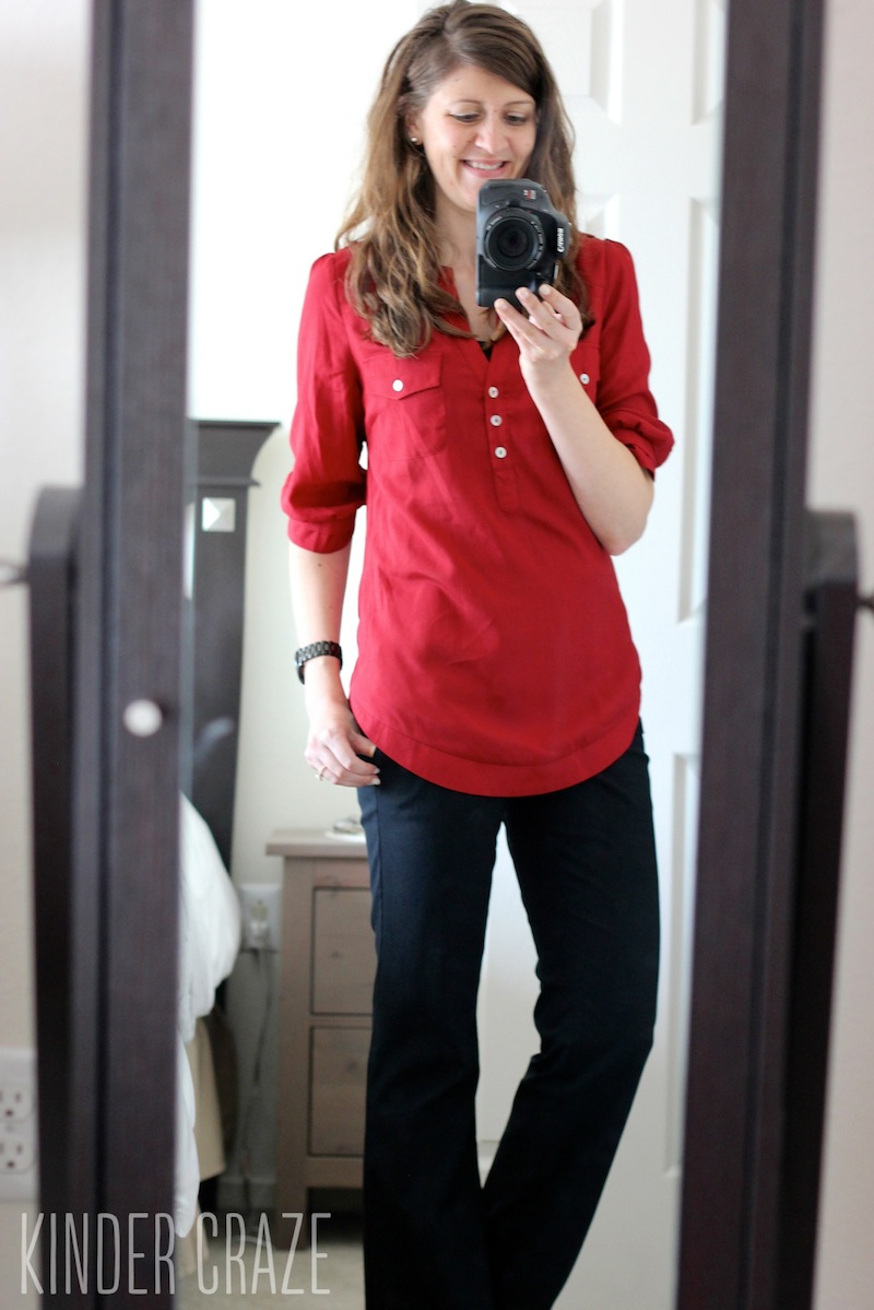 Filbert Maroon Henley Blouse from 41Hawthorn - December Stitch Fix