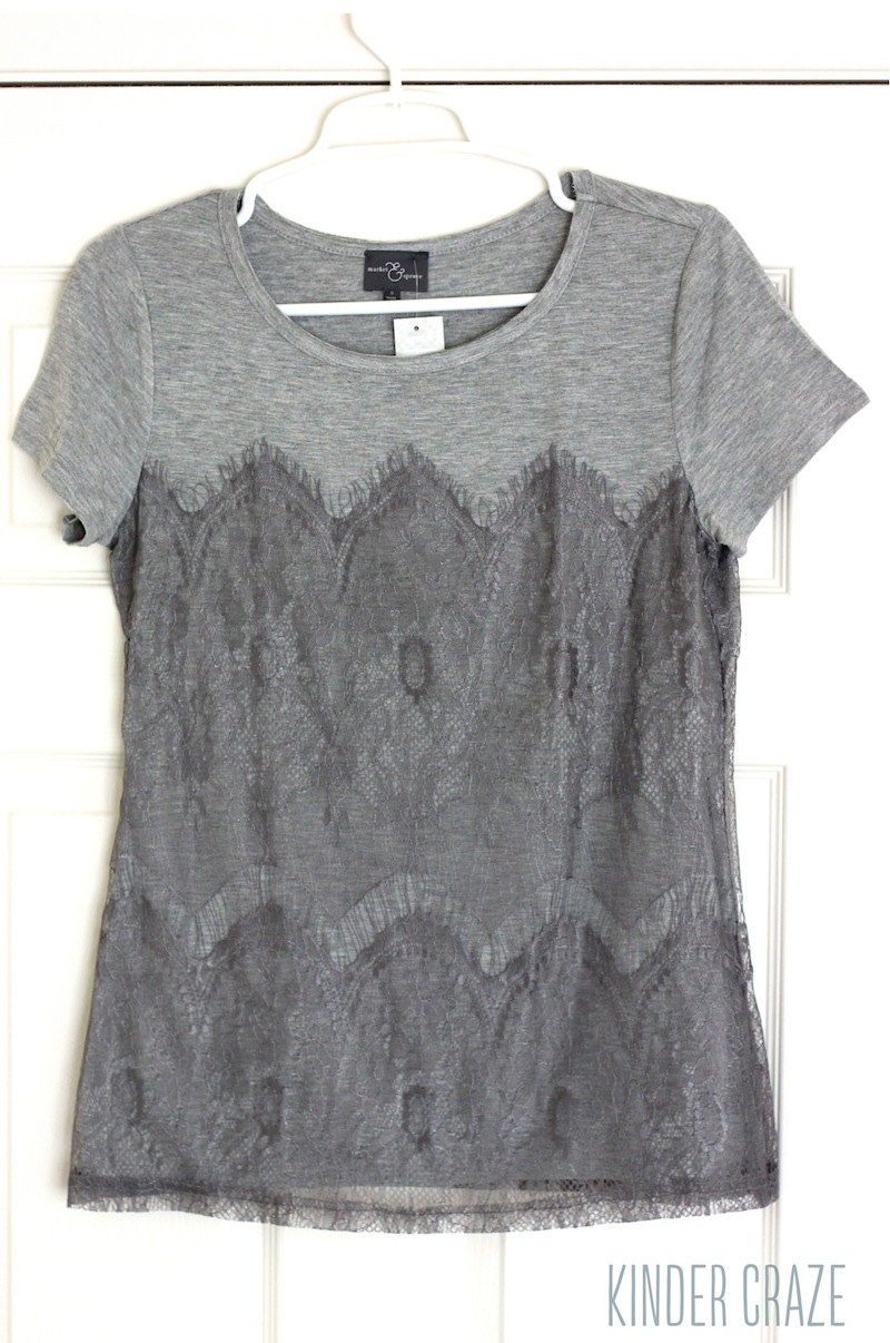 Memphis Lace Overlay Knit Shirt from Stitch Fix