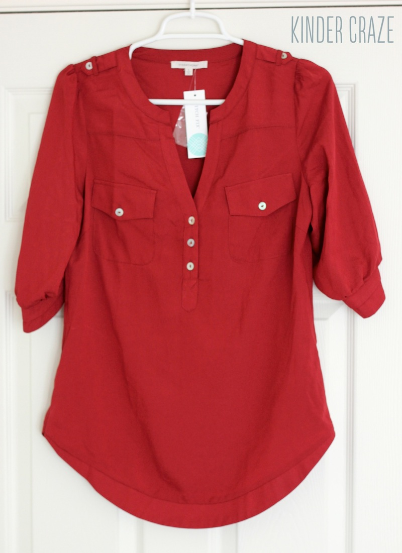 ilbert 3/4 Sleeve Popover Blouse from Stitch Fix