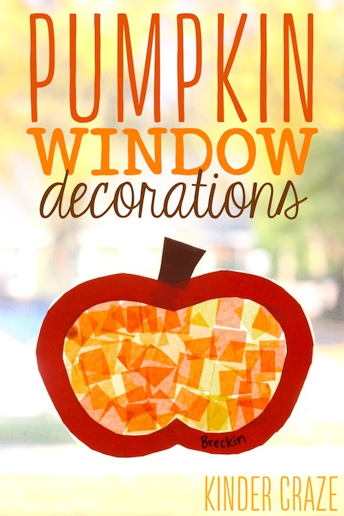 Pumpkin window decorations