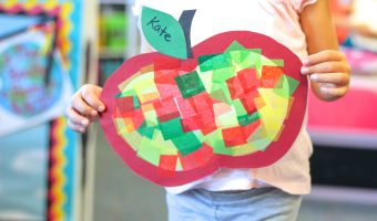 Apple Stained Glass Window Decorations + Free Template