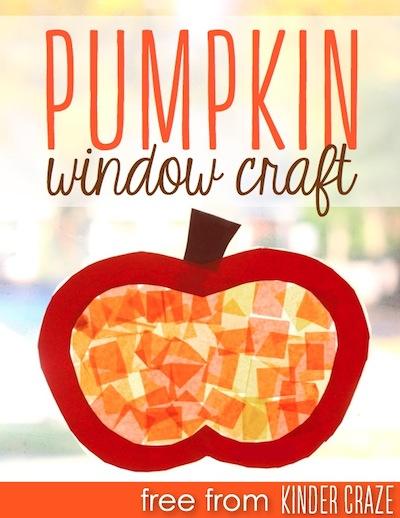 FREE pumpkin window craft template