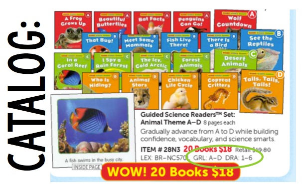 scholastic catalog levels