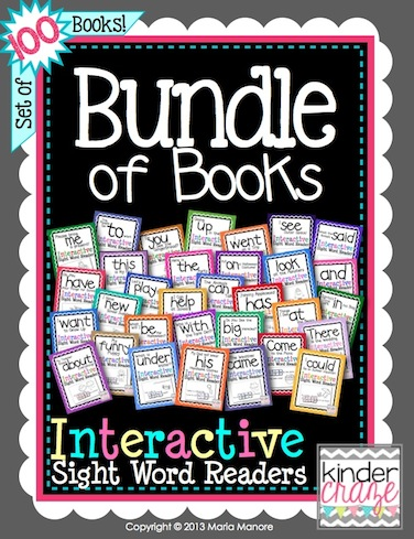 Bundle of Books… 100 emergent readers in one MEGA bundle