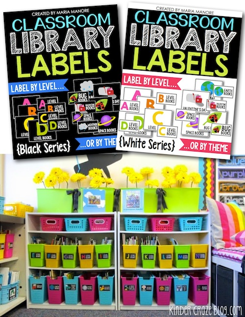 spruce up your library with Classroom Library Labels
