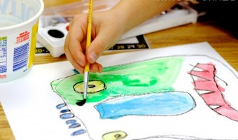 Big Green Monster Kindergarten Watercolor Paintings