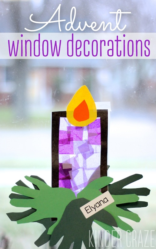 Advent window decoration tutorial #crafts #kids #advent #christmas