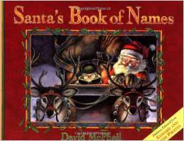 santa's book of names - 25 books about Santa