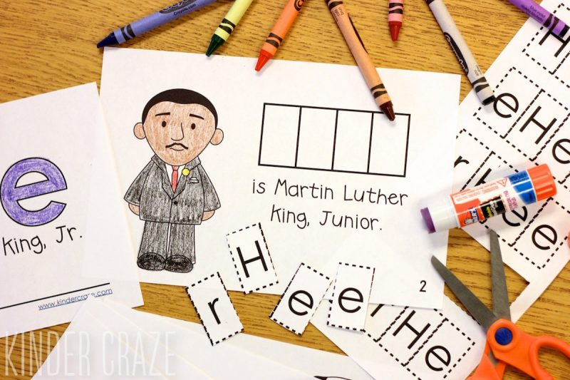 interactive readers about Martin Luther King Jr