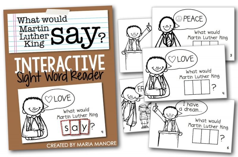 interactive readers for martin luther king day kinder craze