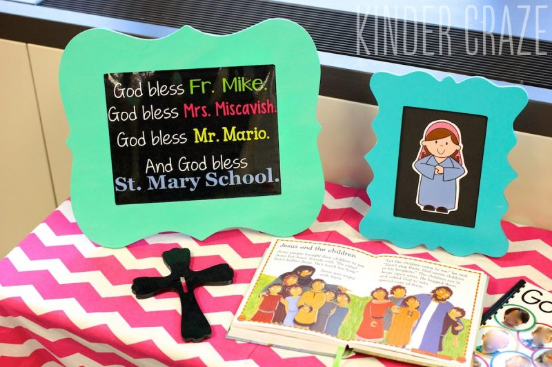 "FREE ""God Bless Our School"" print for Catholic Schools Week or Lutheran Schools Week"