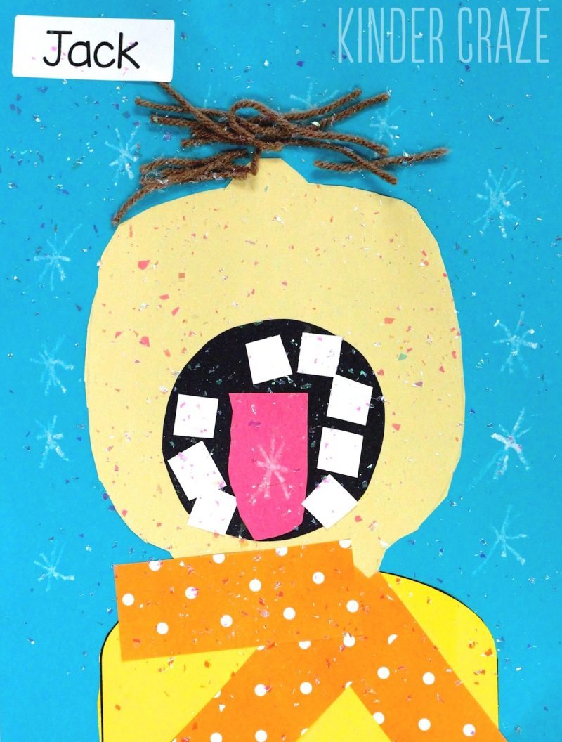 catching snowflakes on your tongue winter craft