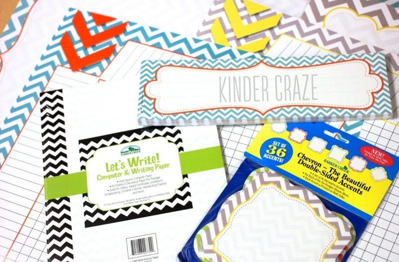 chevron nametags, letterhead and charts from Staples.com