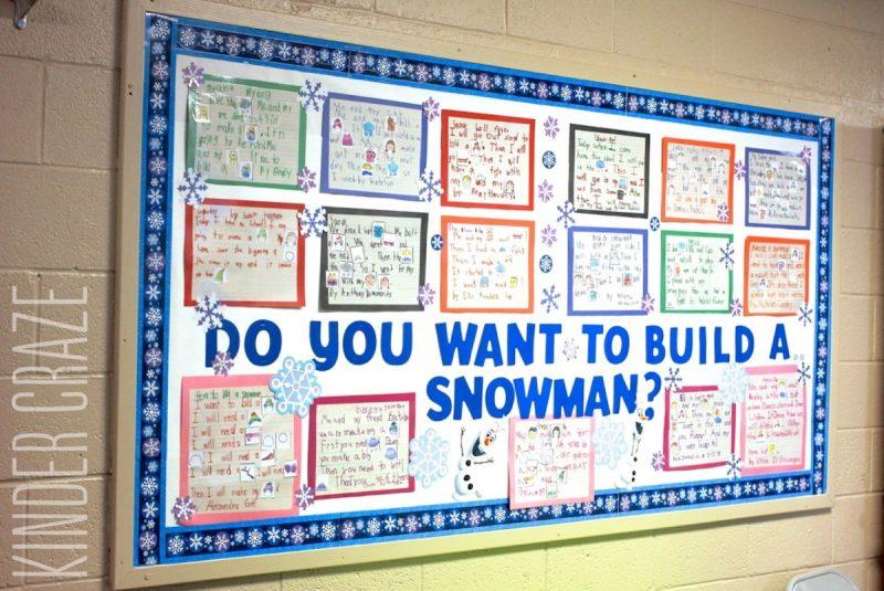 do you want to build a snowman bulletin board idea
