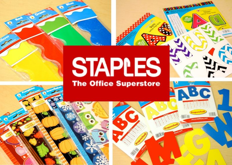 Enter to WIN a classroom decor kit from staples!