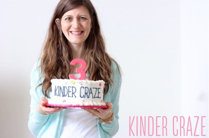 Maria Manore, celebrating the 3rd birthday of Kinder Craze
