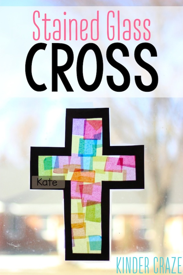 Stained Glass Cross Lenten Craft