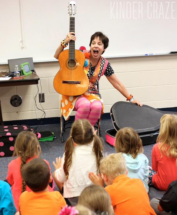 A school visit and performance from the one and only Debbie Clement
