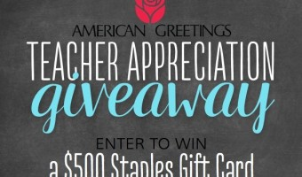 $500 Staples Gift Card Giveaway from American Greetings