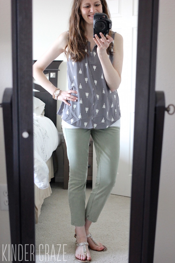 Meryl Tulip Print Sleeveless Blouse from Pixley - May 2015 Stitch Fix Review