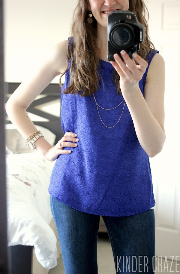 Hal Crew Neck Blouse from Daniel Rainn - May 2015 Stitch Fix Review