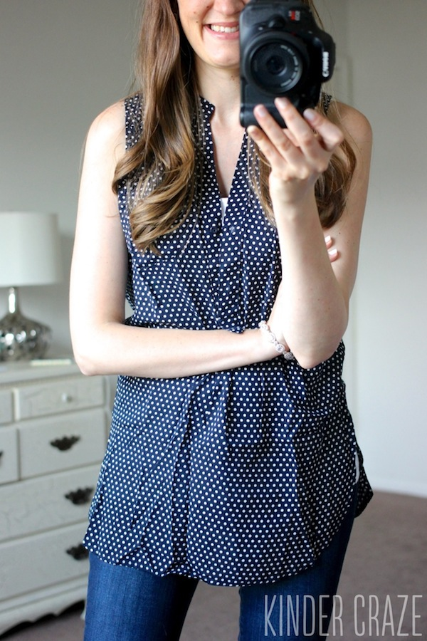 Colibri Sleeveless Top from Market & Spruce - June 2015 Stitch Fix Review #stitchfix #fashion