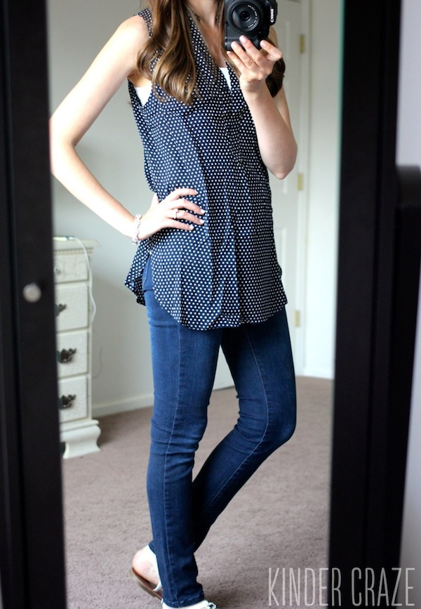 Colibri Sleeveless Top from Market & Spruce with Kensie brand sophia skinny jeans - June 2015 Stitch Fix Review #stitchfix #fashion