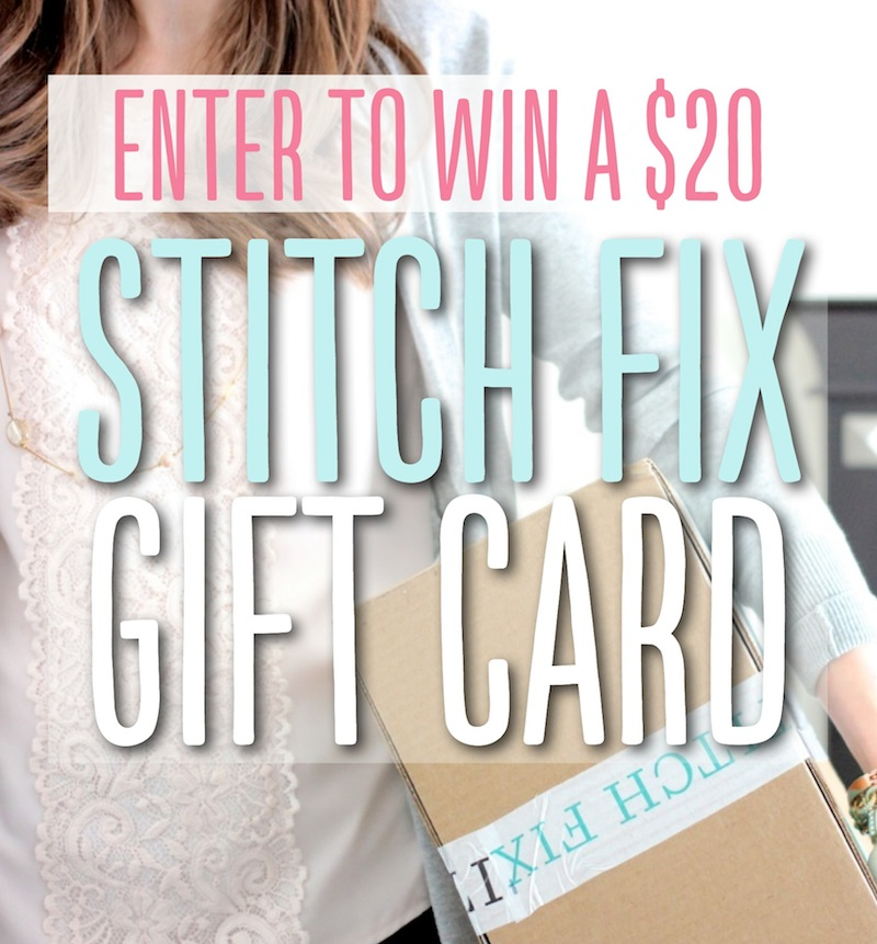 Enter to WIN a $20 Stitch Fix gift card so you can have your next fix styled for FREE!