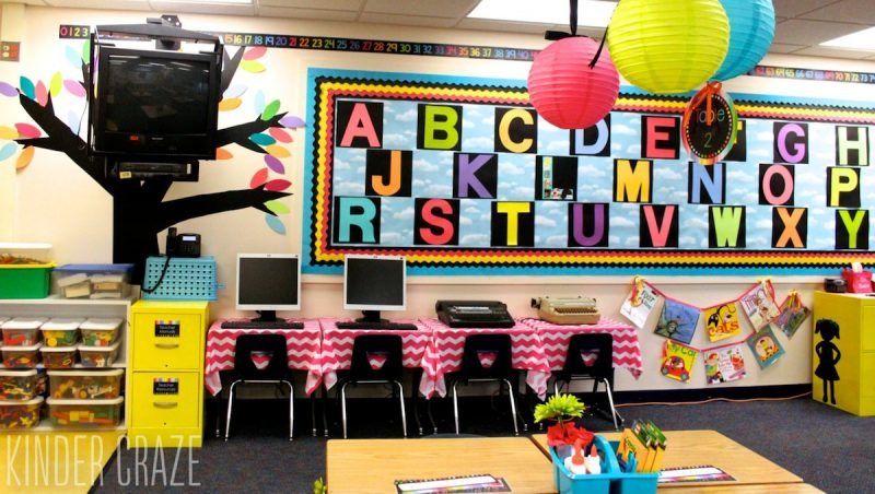 how to create vinyl trees to decorate your classroom walls