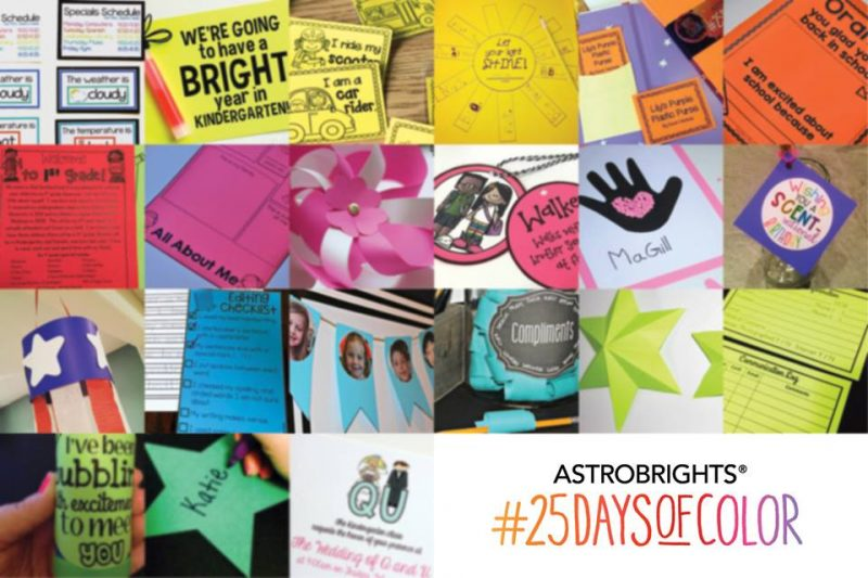 #25DaysOfColor inspiration from Astrobrights
