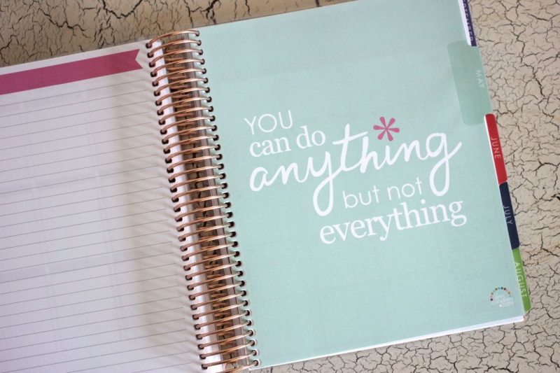 Erin Condren Life Planner inspirational message