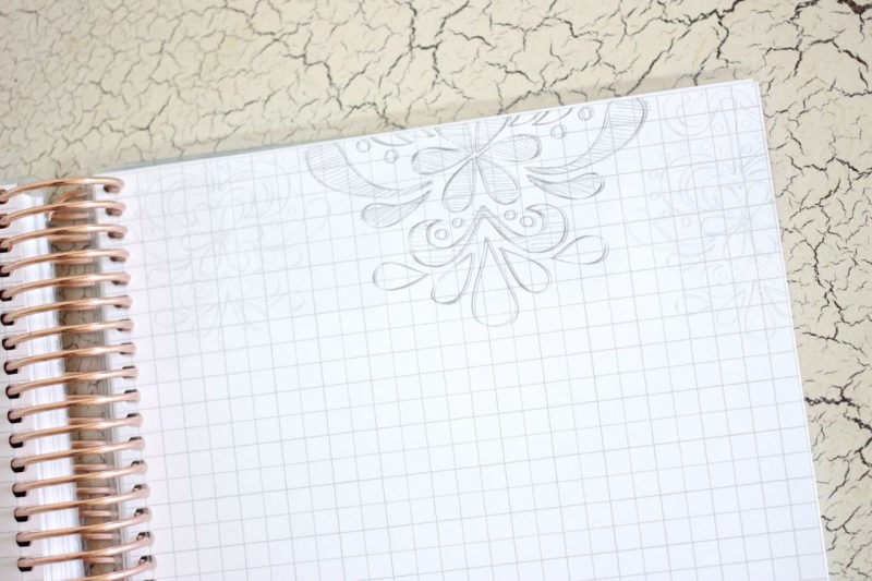 Erin Condren Life Planner graph paper for sketching