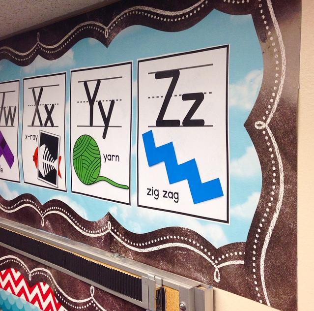 kindergarten classroom alphabet bulletin board
