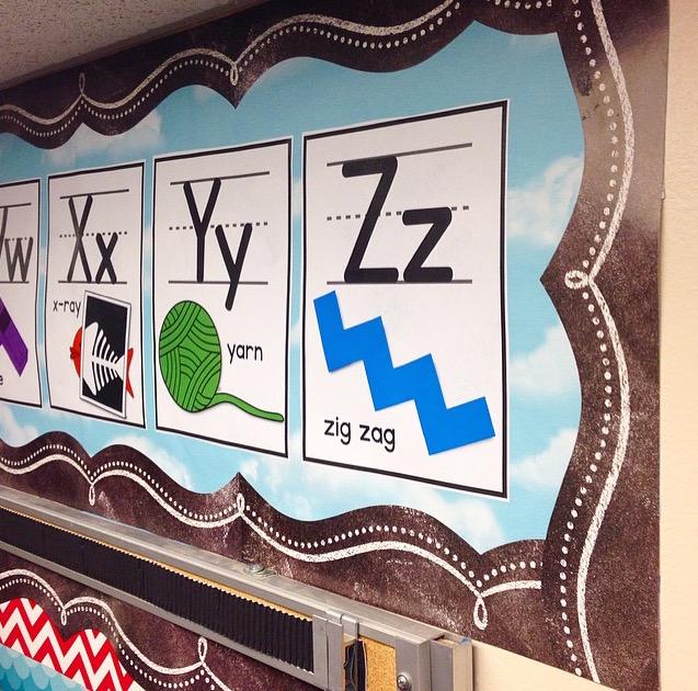 kinder craze alphabet bulletin board