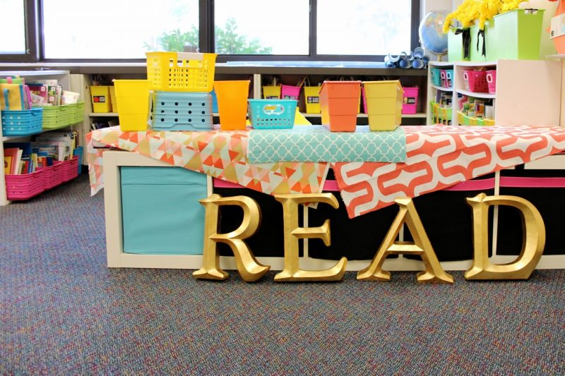 classroom library in progress