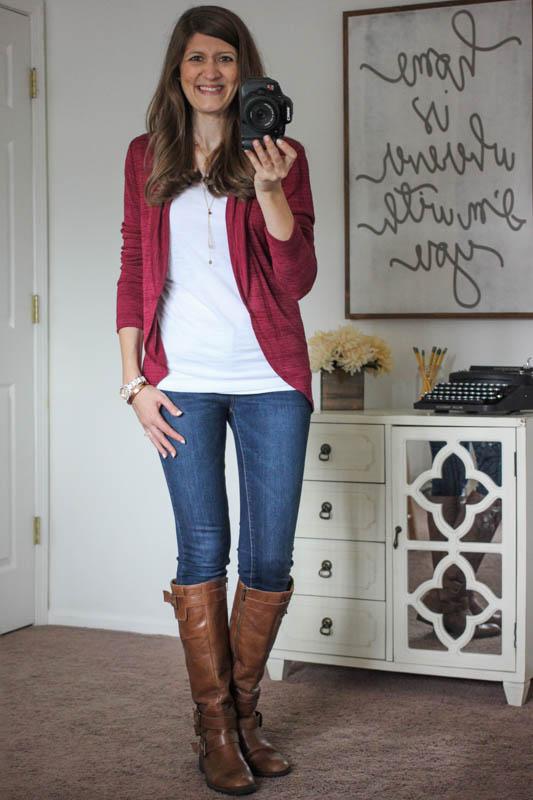 Malaga Drape Cardigan and Sophia Skinny Jeans from Stitch Fix