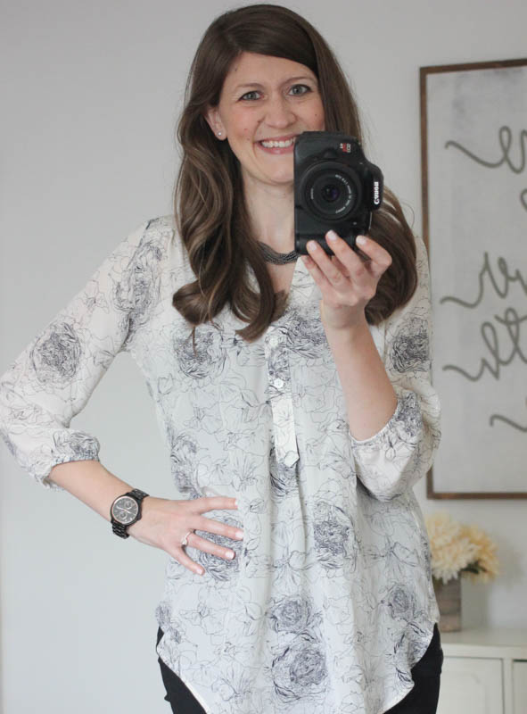 Alessandro Floral Print Silk Blouse from Amour Vert from Stitch Fix