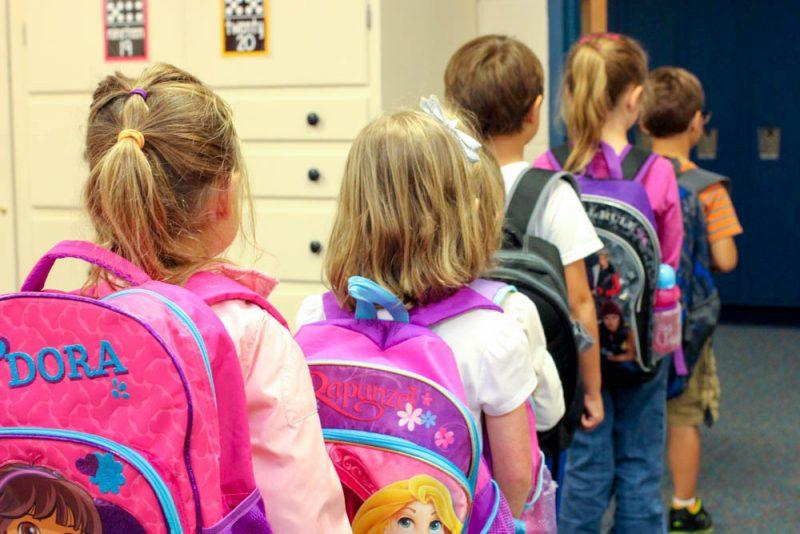 kindergarten class line