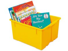 heavy duty classroom bins from Lakeshore Learning