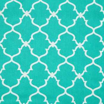 turquoise geometric fabric from Hobby Lobby