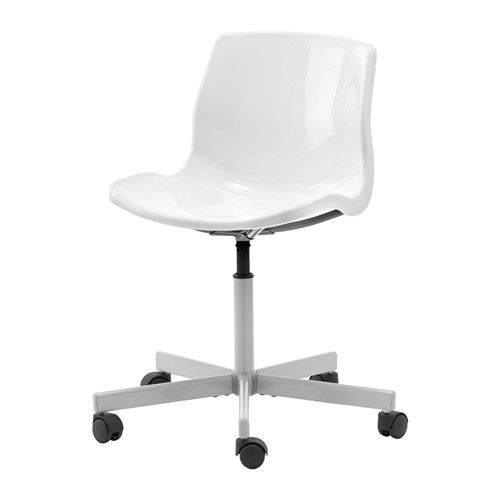 white SNILLE swivel chair from ikea