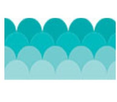 ombre robins egg turquoise border from Schoolgirl Style