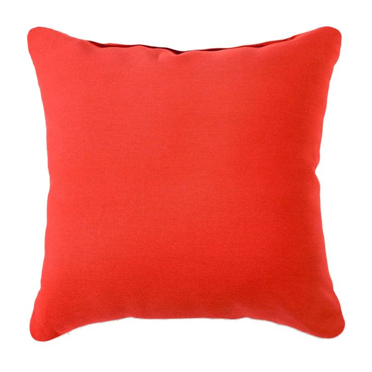 solid red duck fabric pillow from At Home