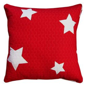 red STAR EURO pillow from At Home